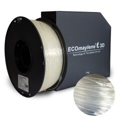 Anti-Flash Transparent - ECOmaylene3D PLA Filament 1.75mm (1 KG)
