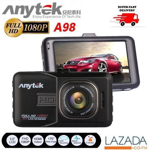 Anytek กล้องติดรถยนต์ 1080P FHD DVR มี WDR รุ่น A98 - สีดำ