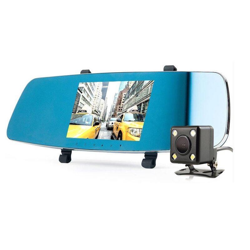 Anytek กล้องกระจกมองหลัง 2 กล้อง 1080P FHD DVR มี WDR รุ่น T20