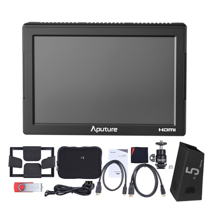 Aputure VS-5 7 Inch Pro Multifunctional Field Monitor 1920*1200 High Resolution HDMI & HD-SDI Input with Waveform Vectorscope Histogram Zebra False Color - intl