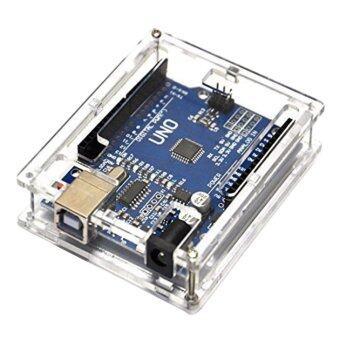 Arduino ATmega328P CH340G UNO R3 Board + USB Cable +Acrylic BoxCase Kit - intl