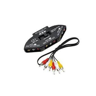 AUDIO กล่องเลือกสัญญาณภาพเสียงเข้า3ทางออก1ทาง 3-Way Audio Video AV RCA Switch Selector Box