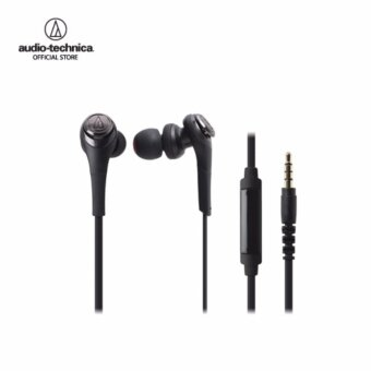 Audio Technica Solid Bass - Inner Earphone W/Remote & Mic forIphone & Smartphone รุ่น ATH CKS550iS Black