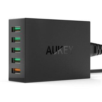 AUKEY 54W 5 Port USB Desktop Wall Charger Compatible with QualcommQuick Charge 2.0 (US)