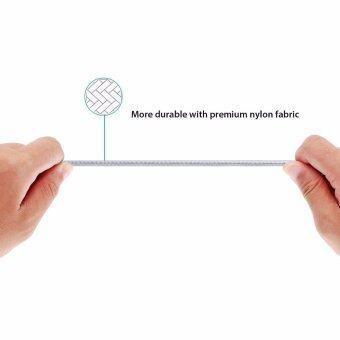 Aukey MFI สายชาร์จไนล่อนถักสีทอง Lightning cable for iPhone CB-D16(สีทอง) (image 2)