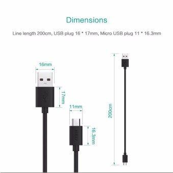 Aukey สายชาร์จ/ซิงค์ USB 2.0 Data Sync Charge Cable ยาว 1.2 เมตร[Pack 3 เส้น] สีดำ (image 3)