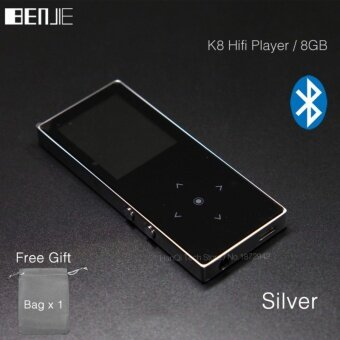 BENJIE K8 8GB Bluetooth MP3 Music Player Touch Screen Metal MP3E-book FM Radio Recorder Support 128GB TF Card Wire Control - intl