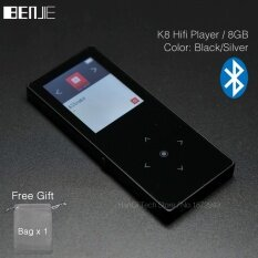 BENJIE K8 8GB Bluetooth MP3 Music Player Touch Screen Metal MP3E-book FM Radio Recorder
