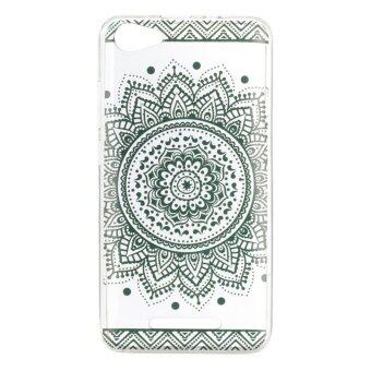 Black Lace flowers TPU Soft Gasbag Back Case Cover For WikoK-Kool/Wiko Jerry