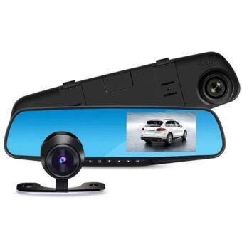 Blackbox DVR กล้องติดรถยนต์ (Car DVR) Full HD 1080P กล้องหน้า+กระจกมองหลังในตัว
