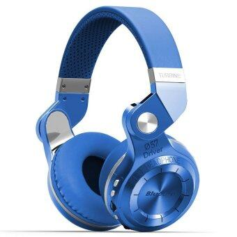 Bluedio หูฟังบลูทูธ Bluetooth 4.1 HiFi Stereo Headphone Super BassGameing รุ่น T2+ (Plus) (Blue)