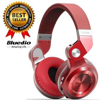 Bluedio หูฟังบลูทูธ Bluetooth 4.1 HiFi Stereo Headphone Super BassGameing รุ่น T2+ (Red)