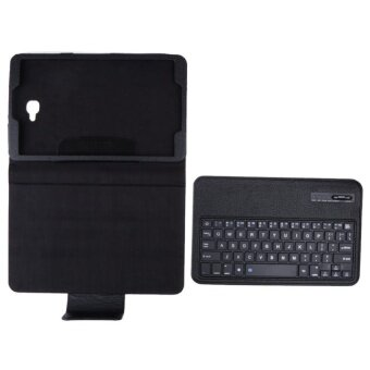 Bluetooth Keyboard Leather Case +Stand for Samsung Galaxy Tab A10.1T580 S(Black) - intl