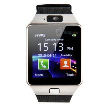Bluetooth Smart Watch Phone & Camera Support SIM Card forAndroid/iOS Phone (Silver) - intl