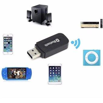 Harga Bluetooth tesia บลูทูธมิวสิค USB Bluetooth Audio Music WirelessReceiver Adapter 3.5mm Stereo Audio