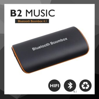 Boom Box Wireless Bluetooth Receiver Car Bluetooth Transmitter Audio Music Adapter Bluetooth 4.1 Receiver Aux For Smartphone and Tablet ลำโพงบูลทูธ ลำโพงบูลทูธขนาดพกพา PMT