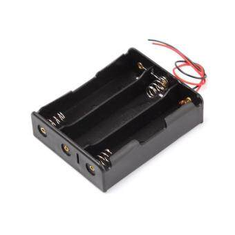 "BUYINCOINS Plastic Battery Storage Case Box Holder for 3 x 18650Black with 6"" Wire Leads - intl"