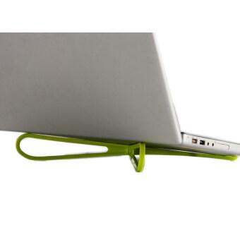 Buytra บูธแบบพกพาแล็ปท็อปเย็นพลาสติกสีเขียว