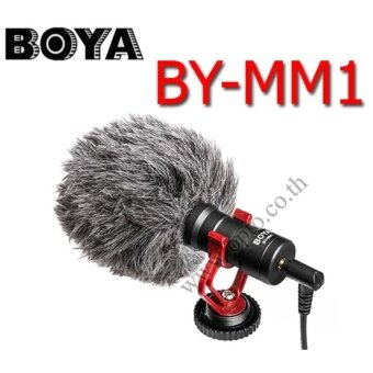 Harga BY-MM1 Boya Electret Condenser Microphone For DSLR Camera Camcorderไมค์หัวกล้องสำหรับกล้องDSLR