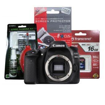 Canon EOS 80D ( BODY ) ประกันร้าน EC-MALL 1ปี +Transcend SD 16GB CLASS10 +ฟิล์มกันรอย+ชุดทำความสะอาด