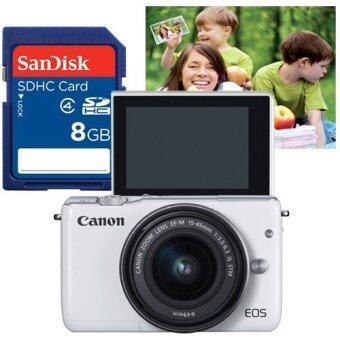 Canon EOS M10 kit EF-M15-45mm. (สีขาว) + SD card 8GB (ราคา200บาท) + คูปองขยายภาพขนาด 16x20 1ใบ ราคา300บาท