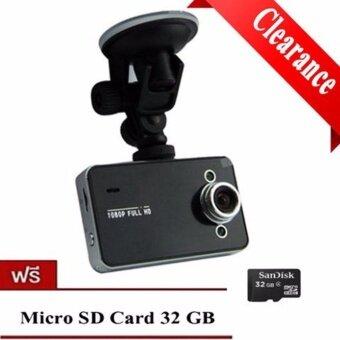 กล้องติดรถ Car Camera กล้องติดรถยนต์ HD DVR รุ่น K6000 (black)แถมฟรีMicro Sd 32GB 1 ชิ้น มูลค่า390บาท