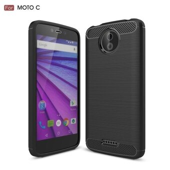 Carbon Rugged Armor Cover Case for Motorola Moto C - intl