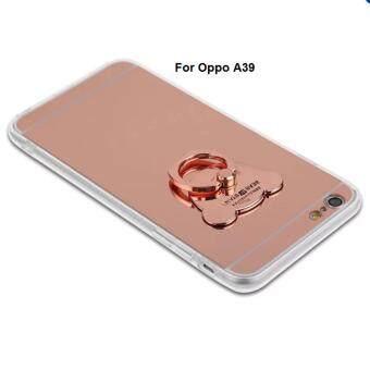 Case For Case OPPO A39 เคสออฟโป้ เคสกระจกเงา ขอบนิ่ม แหวนตั้งได้ (
