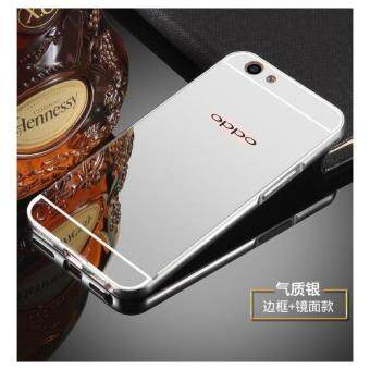 Case For OPPO F1s (A59) เคสกระจก OPPO F1s (A59) Luxury Aluminum Metal Frame Bumper + PC Mirror silver Case Cover (ขอบอลูมิเนียม สีเงิน)