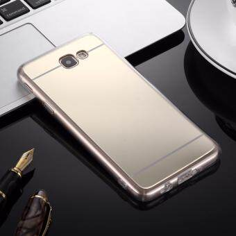 Case Samsung Galaxy J7 Primeเคสกระจกเงา ขอบยางLuxury Mirror SoftClear TPU Case/Cover Gold (สีทอง) (Gold) (image 0)
