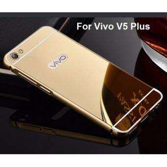 Case Vivo V5 Plus เคสวีโว่วี 5 พลัส เคสกระจก พร้อมส่ง Vivo V5 Plus New Bumper Mirror Case 2 in 1 Gold 18k 24k Aluminium Miror ขอบอลูมิเนียม ใหม่