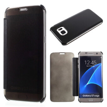 Clear View PC PU Leather Case for Samsung Galaxy S7 Edge G935 -Black - intl
