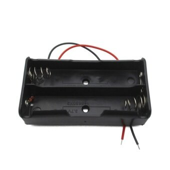 Common 7.4V Plastic 2 Pcs Standard Size 18650 Battery Storage CaseHolder with Wire Leads for 18650 Batteries Wholesale - intl