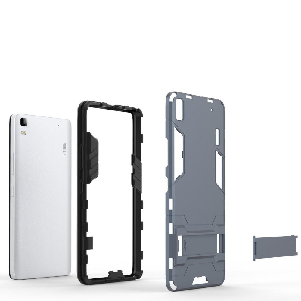 Cool Guard Plastic TPU Combo Case with Kickstand for Lenovo A7000 /A7000 .