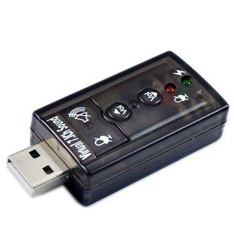 Cyber USB 2.0 3D Virtual 7.1 Channel Audio Sound Card Adapter(Black)