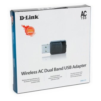 D-Link DWA-171 Wireless AC Dual-band USB 2.0 Adapter