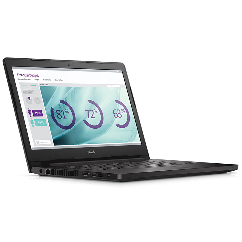 Dell Notebook Latitude3470 14' i3-6100U 4G 1TB W10P (Black)