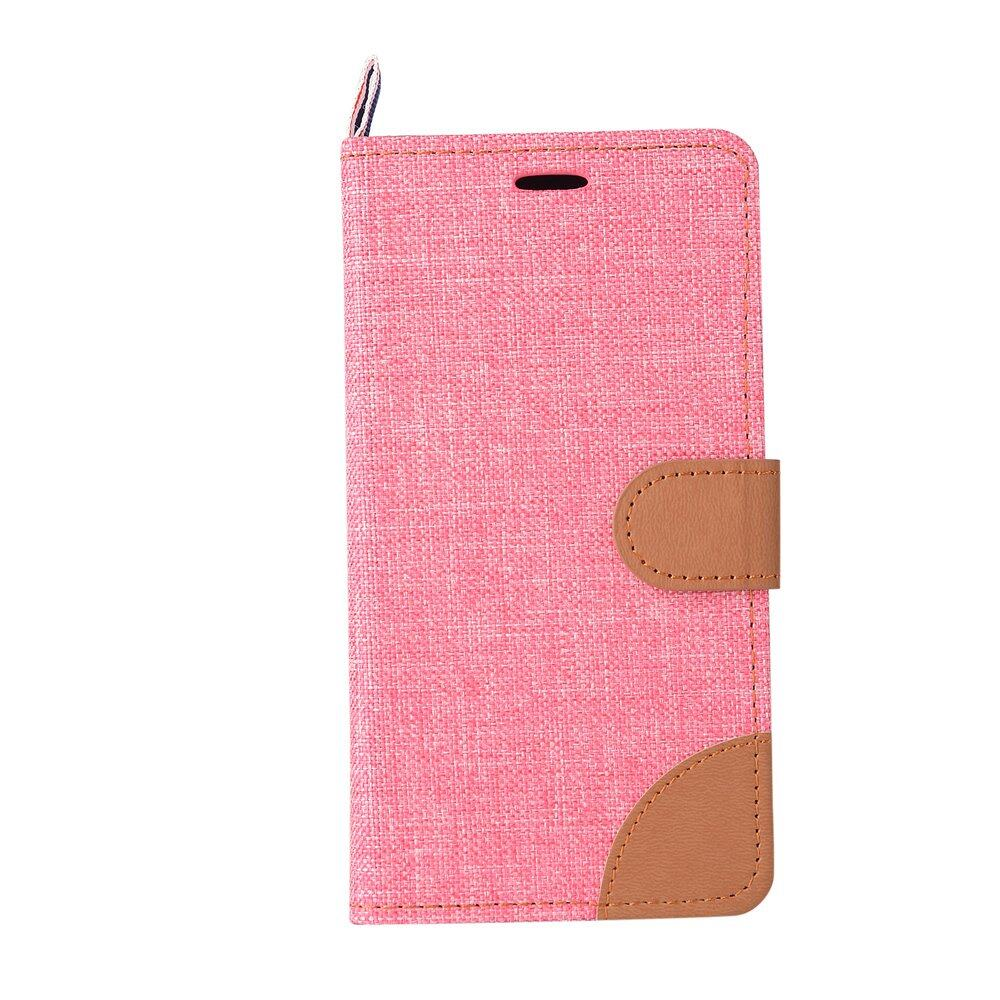 Denim Fabric Skin PU Leather Stand Case for Lenovo A7000 / A7000Plus/