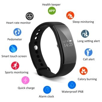 Harga Diggro V66 Heart Rate Smart Bracelet Bluetooth 4.0 for Android IOS- intl