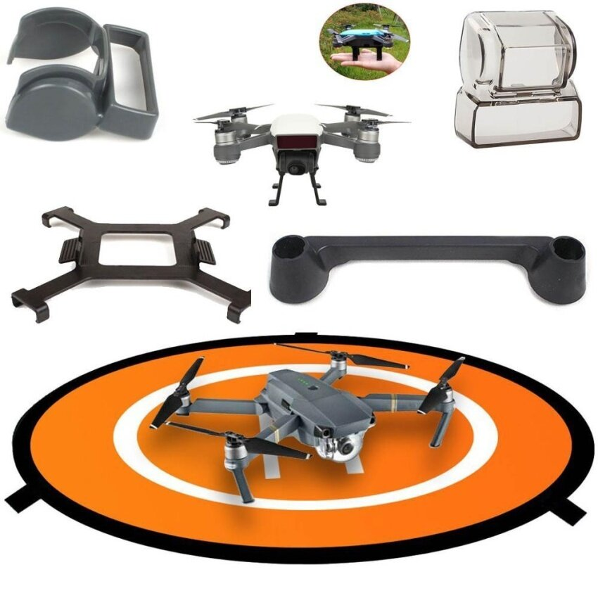 DJI Spark Accessories Set Fast-Fold Landing Pad ,Propeller Blade Fixed Holders,Gimbal Lens Cap Cover Protector Guard ,Lens Hood – intl อยู่ใช่ไหม??