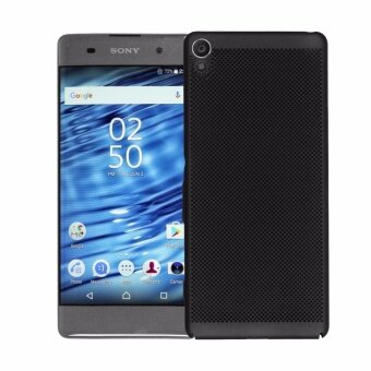 Dotted Breathable Ultra-thin PC phone case for Sony XperiaXA(Black) - intl