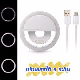 DT Selfie Ring Light RK-12 ไม่ต้องใส่ถ่าน ชาร์จไฟได้ (สีขาว) (image 1)