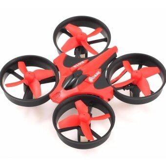 Eachine E010 Mini(สีแดง)2.4G 4CH 6 Axis 3D Headless Mode RC Helicopter Quadcopter RTF RC Tiny whoop