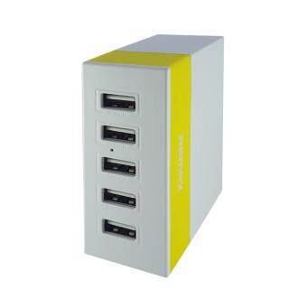 ประกาศขาย E.F.W. Remax ที่ชาร์จไฟบ้าน 5 Port USB Changer สายยาว 1.2M รุ่นRU-U1 (Yellow)