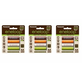 Eneloop Rechargeable Battery AA 12pcs. - Organic Color Limited edition รุ่น BK-3MCCE/4RT 12 ก้อน
