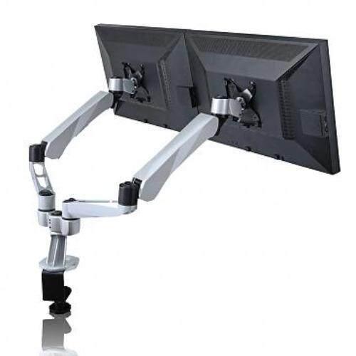 Ergomotive ขาตั้งจอ แบบ 2 Monitor 2 Joint Spring LCD Arm 8cm Pole - EM45036 (Silver Grey)