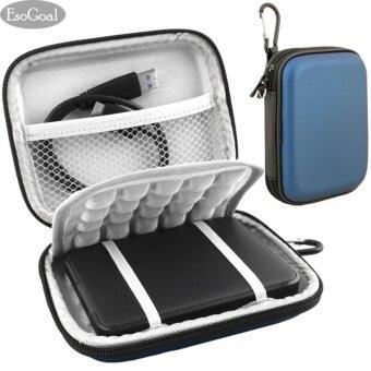 ประกาศขาย EsoGoal External Hard Drive Bag Case Shockproof Carrying TravelCase for 2.5 Inch Portable External GPS Camera Pack (Blue) - intl