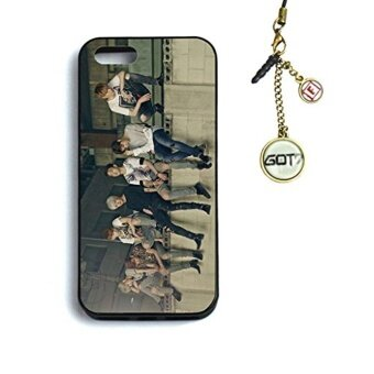 Fanstown GOT7 MAD iphone5/5s case + Dust plug charm (A02) - intl