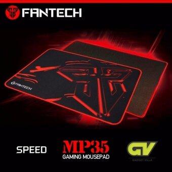 Fantech Mousepad Speed Edition แผ่นรองเมาส์แบบสปีด ขนาด 25x35cm รุ่น MP35 (สีดำ/แดง)