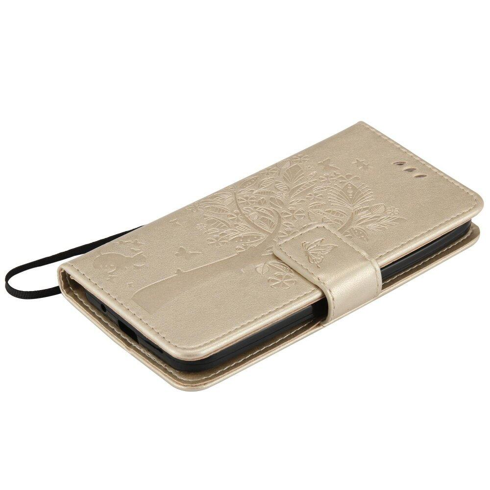 Fashion Tree Protective Stand Wallet Purse Credit Card ID HoldersMagnetic Flip Folio TPU Soft Bumper PU